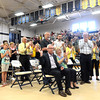 Craig Lindvahl receives a standing ovation after the final performance of the Teutopolis High School Band's Spring Concert Sunday afternoon at J.H. Griffin Gym.<br /> Chet Piotrowski Jr. photo/Piotrowski Studios