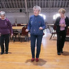 Thursday mornings at the Fitchburg Senior Center you can take line dancing classes with Joyce D'Aguanno of Fitchburg. New dancer Rose Dalessio of Fitchburg, on right, and Hellen Perkins of Fitchburg follow D'Aguanno, in front, as she teaches her class some steps on Jan. 9, 2020. SENTINEL & ENTERPRISE/JOHN LOVE