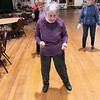 Thursday mornings at the Fitchburg Senior Center you can take line dancing classes with Joyce D'Aguanno of Fitchburg. Helen Perkins of Fitchburg enjoys the class on Jan. 9, 2020. SENTINEL & ENTERPRISE/JOHN LOVE