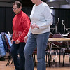 Thursday mornings at the Fitchburg Senior Center you can take line dancing classes with Joyce D'Aguanno of Fitchburg. Lu Lamarine, in red, and Ann Craigen both of Fitchburg take D'Aguanno class on Jan. 9, 2020. SENTINEL & ENTERPRISE/JOHN LOVE