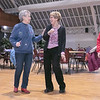 Thursday mornings at the Fitchburg Senior Center you can take line dancing classes with Joyce D'Aguanno of Fitchburg. D'Aguanno has a good laugh with new dancer Rose Dalessio of Fitchburg as she teaches her some steps on Jan. 9, 2020. On right following along is Lu Lamarine of Fitchburg. SENTINEL & ENTERPRISE/JOHN LOVE