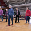 Thursday mornings at the Fitchburg Senior Center you can take line dancing classes with Joyce D'Aguanno of Fitchburg. D'Aguanno, in blue shirt, teaches her class on Jan. 9, 2020. SENTINEL & ENTERPRISE/JOHN LOVE