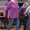 Thursday mornings at the Fitchburg Senior Center you can take line dancing classes with Joyce D'Aguanno of Fitchburg. Joan Tellier of Fitchburg takes D'Aguanno class on Jan. 9, 2020. SENTINEL & ENTERPRISE/JOHN LOVE