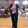 Thursday mornings at the Fitchburg Senior Center you can take line dancing classes with Joyce D'Aguanno of Fitchburg. New dancer Rose Dalessio of Fitchburg tries to learn some steps from D'Aguanno as she teaches her class on Jan. 9, 2020. SENTINEL & ENTERPRISE/JOHN LOVE