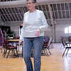 Thursday mornings at the Fitchburg Senior Center you can take line dancing classes with Joyce D'Aguanno of Fitchburg. Ann Craigen of Fitchburg takes D'Aguanno class on Jan. 9, 2020. SENTINEL & ENTERPRISE/JOHN LOVE