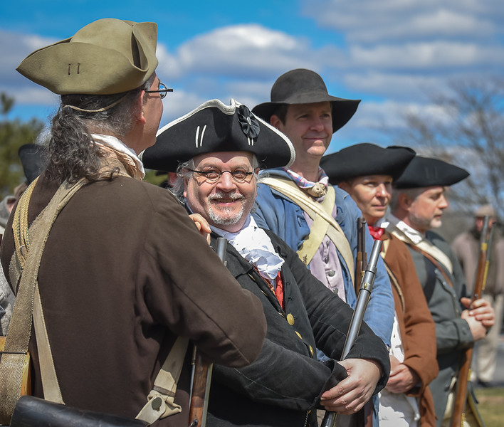 Line of March Re-enactment - Tewksbury Public Library