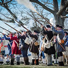 Shots are fired by reenactos at the Line-of-March dedication in Tewksbury. SUN/Caley McGuane