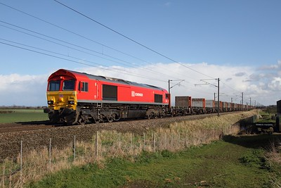 66001 on the 1436 Biggleswade to Heck at Claypole on the 31st March 2015