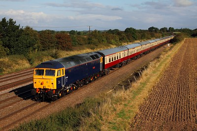47843 tnt 47815 on the 1Z33 Doncaster to Great Yarmouth at Cossington on the 20th August 2014