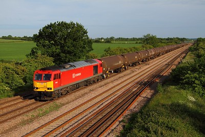 60015 on 6E38 Colnbrook to Lindsey tanks at Cossington on the 17th June 2013