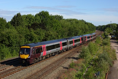 170115 leads UID 170 on 1N43 0657 Cambridge to Birmingham New Street at Syston on 23 June 2020  Class170, CrossCountry, MML, MMLLeicestershire
