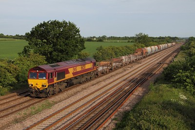 66250 leads the 4M86 Ely to Peak Forest at Cossington on the 17th June 2013