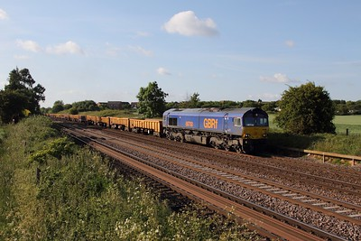 66750 on the 6L15 Toton to Whitemoor at Cossington on the 10th June 2015