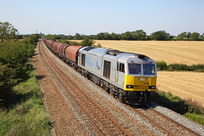 60066 on the 6E02 Bescot to Boston at Muston on the 26th August 2019