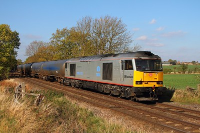 60099 on the 6E54 Kingsbury to Humber at Chellaston on the 22nd October 2011
