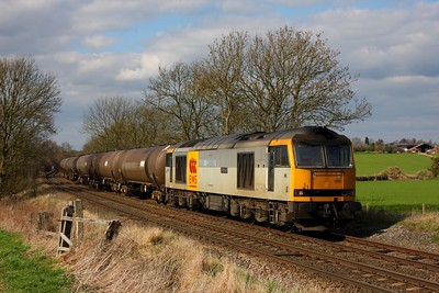 60015 on the 6E41 Westerleigh to Lindsey tanks at Chellaston on the 19th March 2011