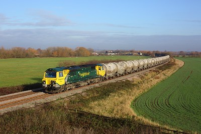 70020 working 6G65 Earles to Walsall at Lockington on 26 November 2020  Class70, Sheetstoresbranch, Freightliner