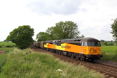 56302 56105 6E07 Washwood Heath to Boston at Chellaston on the 21st June 2013