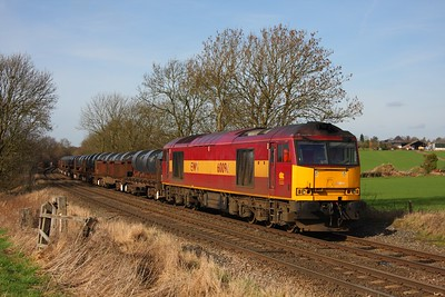 60096 on the 6M96 Margam to Corby at Chellaston on the 24th February 2011