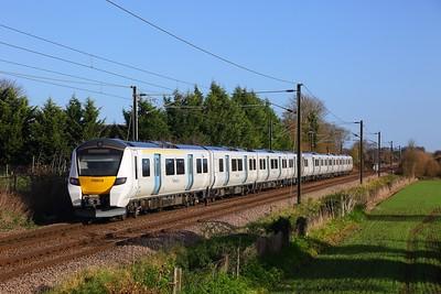700019 heading towards Cambridge on a training run on the 23rd November 2017