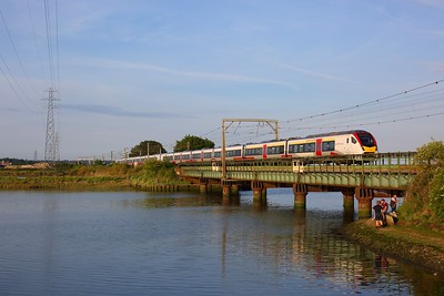 745004 on the 1P63 Norwich to London Liverpool Street at Cattawade, Manningtree on 15 June 2020  GreaterAnglia, Class321, GEML