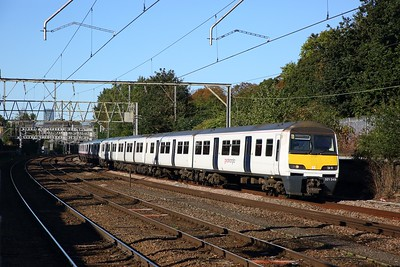 321349+321308 on the 2F30 0938 London Liverpool Street to Colchester Town at Manor Park on the 2nd October 2019