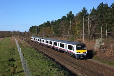 321308 working 1Y04 1810 Ingatestone to Ipswich at Belstead on 11 April 2021, GA, Class321, GEML