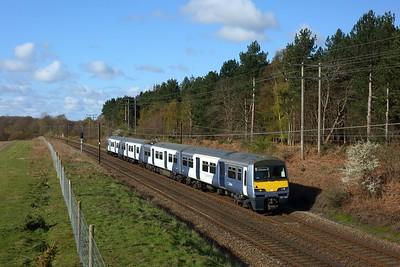 321429 work 1Y06 0830 Ingatestone to Ipswich at Belstead on 11 April 2021  Class321, GEML, GA