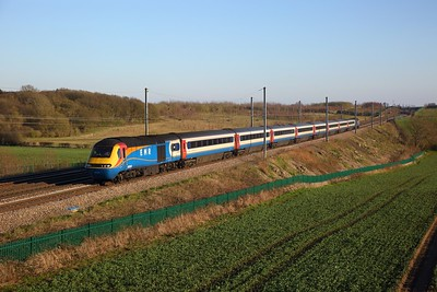 43050+43083 on 1F53 1635 St Pancras to Sheffield at Childwickbury near Harpenden on the 22nd March 2020