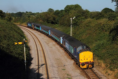 37419+37405 on the 2J80 1455 Norwich to Lowestoft at Reedham on the 30th August 2016 1