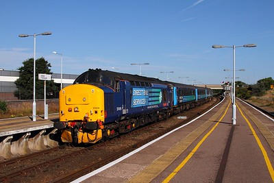 37419+37405 on the 2P12 0836 Norwich to Great Yarmouth arriving Great Yarmouth on the 30th August 2016