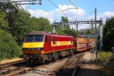 90035 on the 6X77 Dagenham Dock to Mossend at Gospel Oak on the 31st July 2018