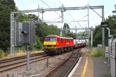 90018 on the 6X77 Dagenham to Mossend working on the GOBLIN! at Gospel Oak on the 4th July 2018