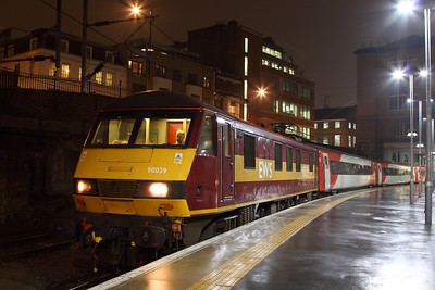 90039 on the 5Y44 1958 Kings Cross to Bounds Green at Kings Cross on the 9th February 2017