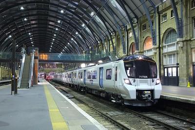 717006 on the 5E70 2345 London Kings Cross to Hornsey E M U D  at Kings Cross on the 13th November 2018