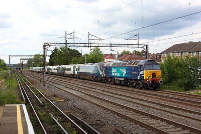 57304 hauling 390122 on 5Z14 1533 Birmingham New Street to Wembley at South Kenton on 6 June 2021  DRS, Class57, WCMLLondon, PendolinoDrag, Unitdrag