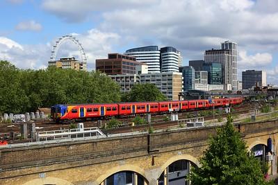 455901 leading 455872 on 2O21 1014 London Waterloo circular via Richmond and Kingston departing London Waterloo on 14 June 2020  SWR, Class455, SWMLLondon
