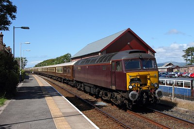 57315 tnt 57316 on the 1Z51 Ravenglass to Hereford at Ravenglass on the 25th July 2015 1