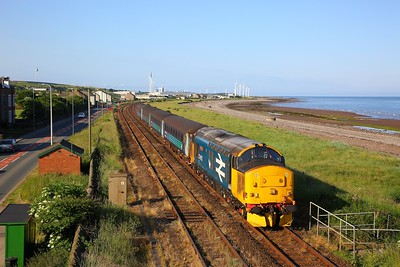 37403 on the 2C35 0550 Barrow in Furness to Carlisle at Flimby on the 11th June 2018