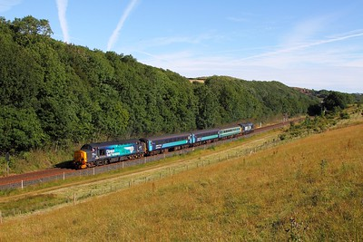 37423 tnt 37409 on the 2C47 1732 Barrow-in-Furness to Carlisle at Park South on the 1st August 2015