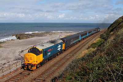 37401 tnt 37603 on the 2C41 0845 Barrow-in-Furness to Carlisle at Parton on the 1st August 2015