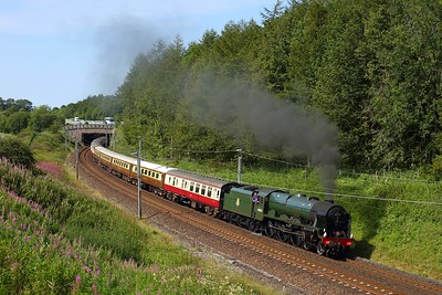 46100 Royal Scot works the 1Z01 Crewe to Carlisle at Beckfoot on 15 August 2020  Class6100, Cumbria, Steam