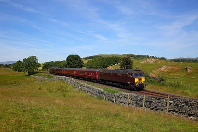 57314 tnt 57316 on the 2Z03 1040 Oxenholme Lake District to Windermere at Ings on the 25th June 2018