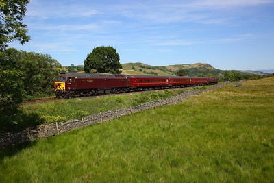 57316 tnt 57314 on the 2Z07 1440 Oxenholme Lake District to Windermere at Ings on the 25th June 2018