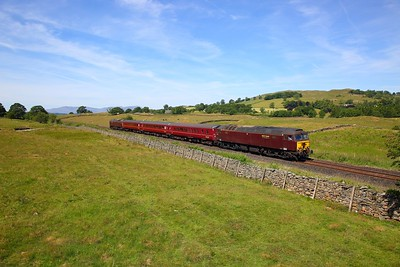 57314 tnt 57316 on the 2Z04 1130 Windermere to Oxenholme Lake District at Ings on the 25th June 2018