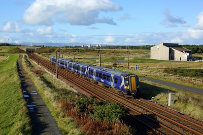 380103 working 2K89 1534 Glasgow Central to Ayr at Gailes, Irvine on 1 October 2020  Class380, Scotrail, AyrshireCoast