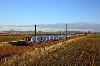 380104 on the 2Y01 1222 North Berwick to Edinburgh at Drem on the 30th November 2019
