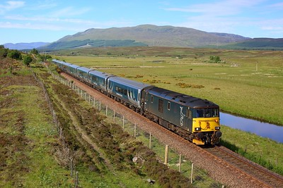 73970 working 1S25 London Euston to Inverness at Cuiach on 28 June 2021  GBRf73, CaledonianSleeper, Scottish73, LateSleeper, HML