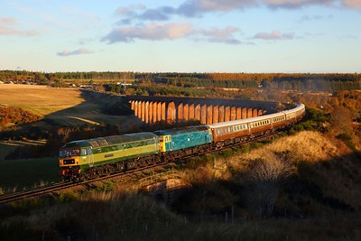 47810+47853 on the 1Z26 Inverness to Milton Keynes at Culloden Viaduct on the 29th October 2018