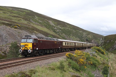 57315 tnt 57314 on the 1Z69 0917 Saltburn to Inverness at Slochd on the 20th June 2014